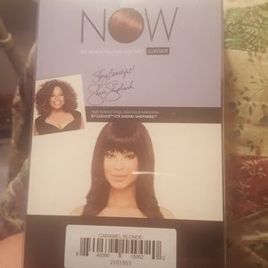 NEW NOW LUXHAIR CARAMEL BLONDE CLIP IN BANGS